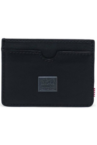 ΔΕΡΜΑΤΙΝΟ ΠΟΡΤΟΦΟΛΙ HERSCHEL 10845-00001-OS CHARLIE LEATHER WALLET RFID BLACK