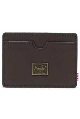 HERSCHEL 10845-04123-OS CHARLIE LEATHER WALLET RFID BROWN