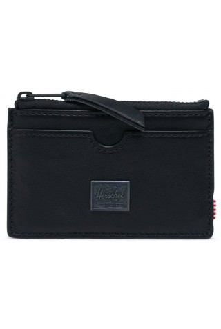 HERSCHEL 10848-00001-OS OSCAR LEATHER WALLET RFID BLACK