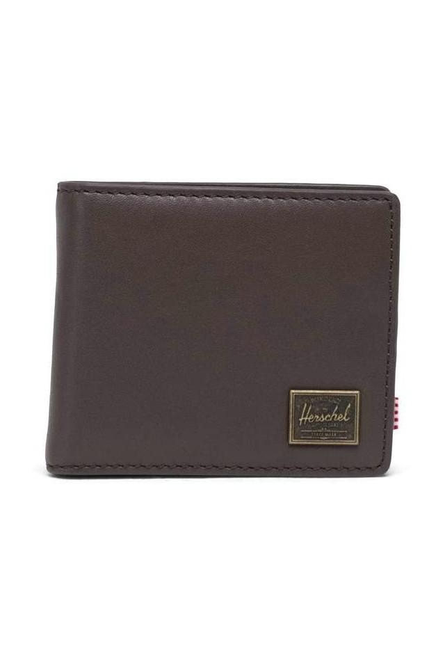 HERSCHEL 10851-04123-OS HANK COIN LEATHER WALLET RFID BROWN