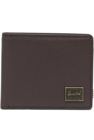 ΔΕΡΜΑΤΙΝΟ ΠΟΡΤΟΦΟΛΙ HERSCHEL 10850-04123-OS HANK LEATHER WALLET RFID BROWN
