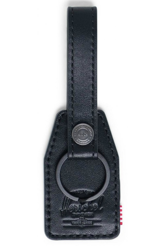 HERSCHEL 10815-00001-OS SNAP LEATHER KEYCHAIN BLACK