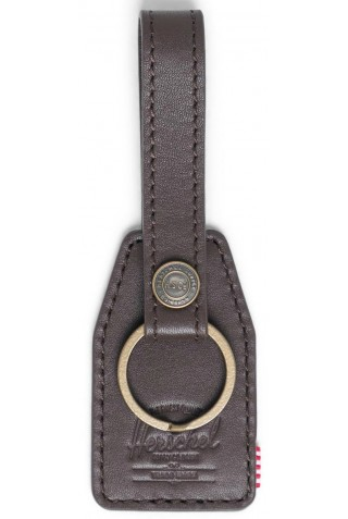 HERSCHEL 10815-04123-OS SNAP LEATHER KEYCHAIN BROWN