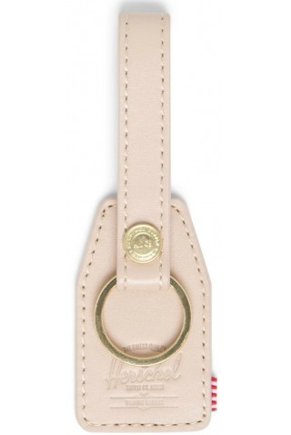 HERSCHEL 10815-04124-OS SNAP LEATHER KEYCHAIN NATURAL