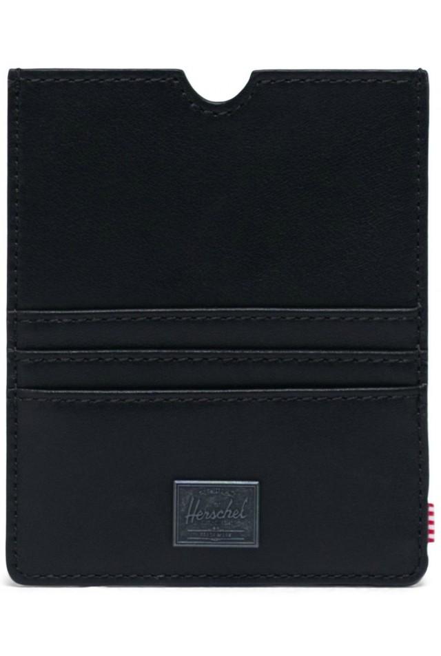 ΠΟΡΤΟΦΟΛΙ ΤΑΞΙΔΙΟΥ HERSCHEL 10853-00001-OS EUGENE LEATHER WALLET RFID BLACK