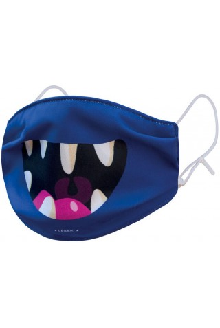 ΠΑΙΔΙΚΗ ΜΑΣΚΑ ΠΡΟΣΤΑΣΙΑΣ LEGAMI MABA0006 REUSABLE FACE MASK FOR KIDS MONSTER SMILE