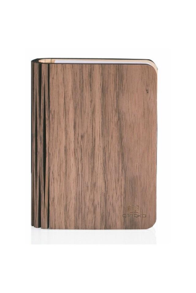 GINGKO GK12W8 NATURAL WOOD SMART BOOK LIGHT WALNUT