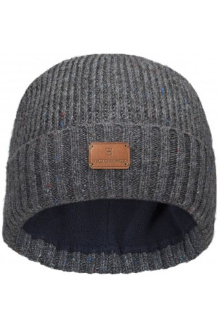 ΣΚΟΥΦΟΣ VICTORINOX RIB KNIT BEANIE WITH VX LEATHER PATCH 611134 DARK GREY