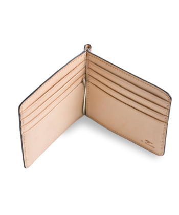 IL BUSSETTO BILL CLIP LEATHER WALLET