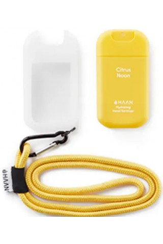 ΑΠΟΛΥΜΑΝΤΙΚΟ ΧΕΡΙΩΝ HAAN HAND SANITIZER POCKET&CASE&LANYARD CITRUS NOON YELLOW