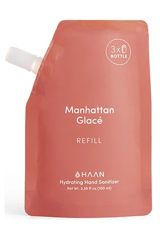 HAAN REFILL P100ML SANITIZER STD MANHATTAN GLACE