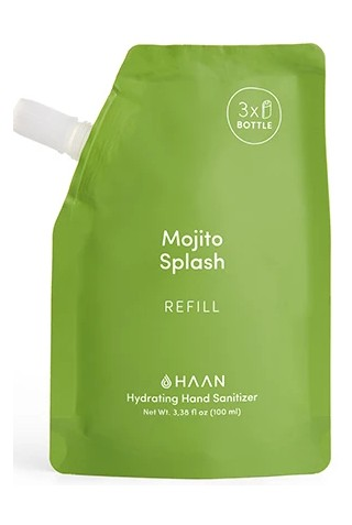 HAAN REFILL P100ML SANITIZER MOJITO SPLASH