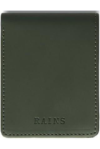 ΠΟΡΤΟΦΟΛΙ RAINS 1660/03 FOLDED WALLET GREEN