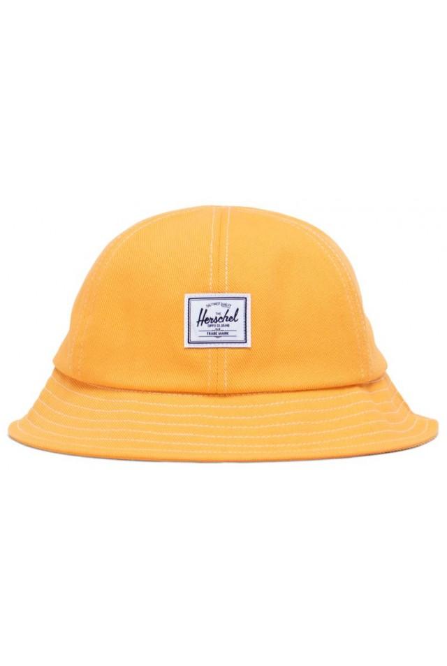 HERSCHEL 1183-1441-OS HENDERSON CAP Blazing Orange Denim/Blanc De Blanc