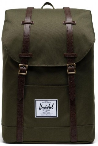 HERSCHEL 10066-04488-OS RETREAT BACKPACK IVY GREEN/CHIC COFFEE