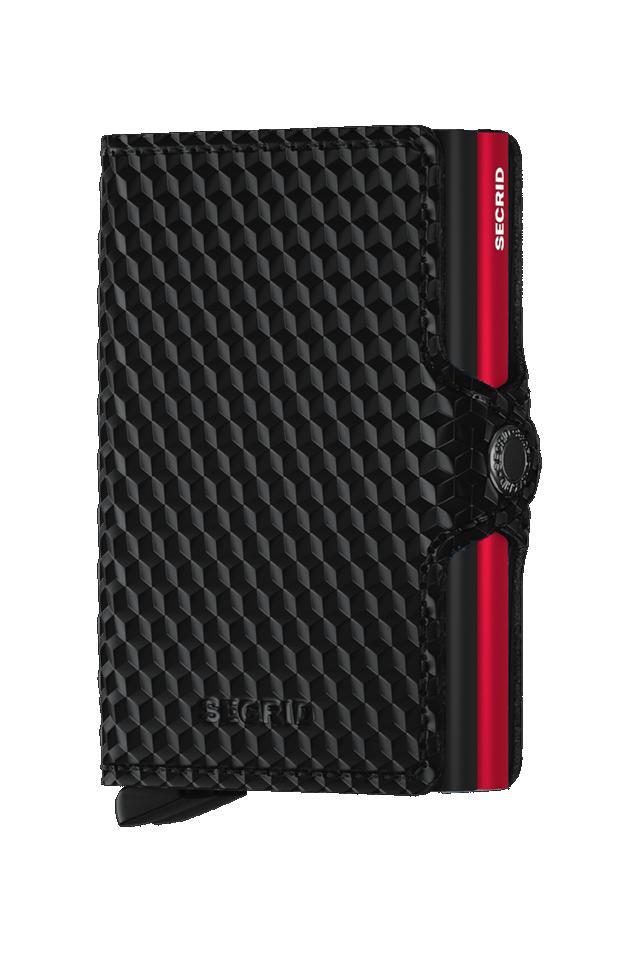 SECRID TCU-BLACK-RED TWINWALLET CUBIC BLACK RED