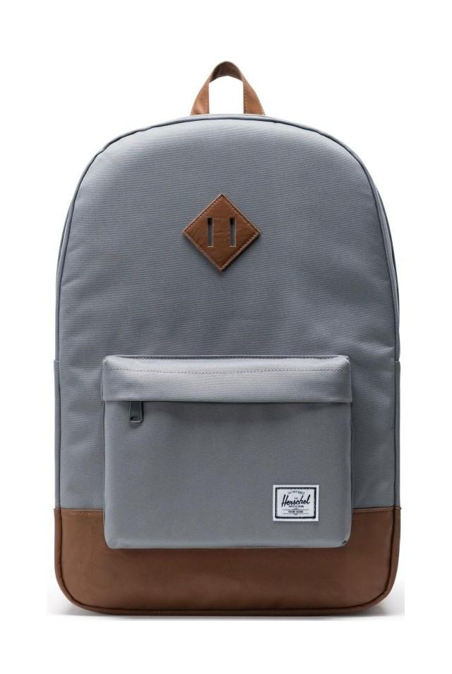 ΣΑΚΙΔΙΟ ΠΛΑΤΗΣ HERSCHEL 10007-00061-OS HERITAGE BACKPACK Grey/Tan Synthetic Leather