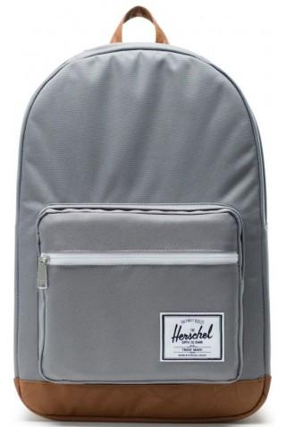 ΣΑΚΙΔΙΟ ΠΛΑΤΗΣ HERSCHEL 10011-00006-OS POP QUIZ BACKPACK Grey/Tan Synthetic Leather