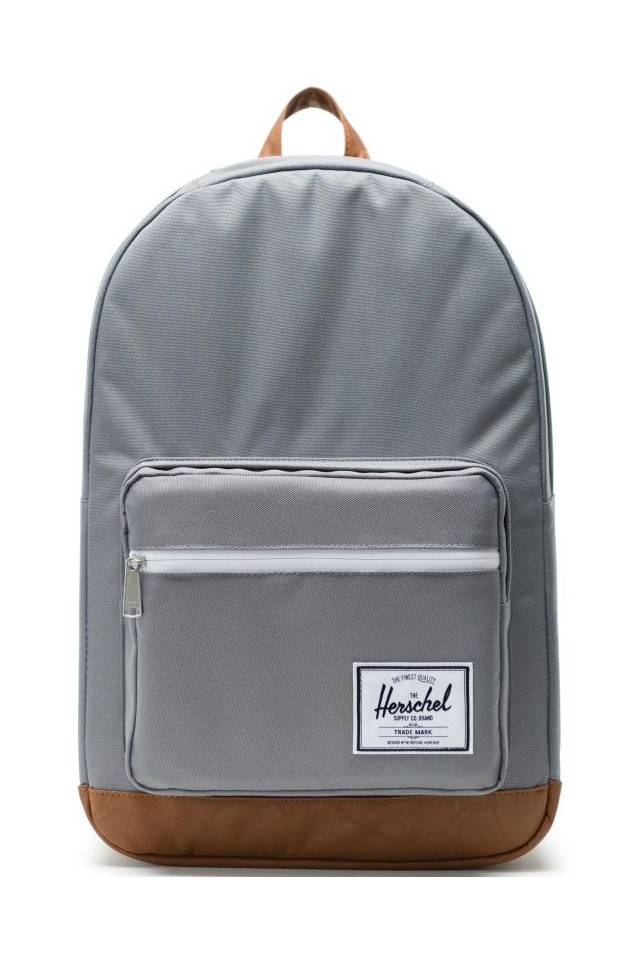 HERSCHEL 10011-00006-OS POP QUIZ BACKPACK Grey/Tan Synthetic Leather