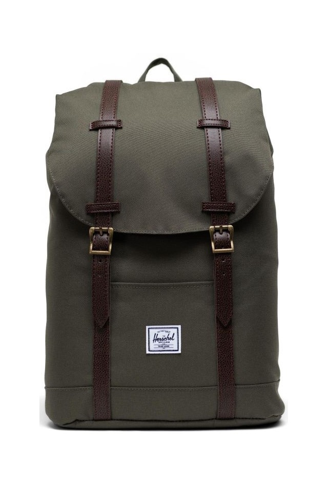 HERSCHEL 10329-04488-OS RETREAT MID VOL BACKPACK Ivy Green/Chicory Coffee