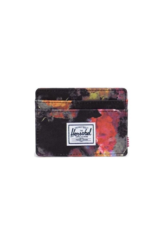 ΠΟΡΤΟΦΟΛΙ HERSCHEL 10360-04922-OS CHARLIE RFID WALLET WATERCOLOR FLORAL