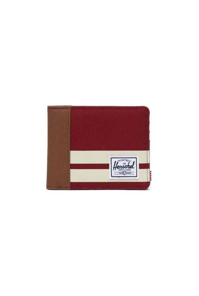 HERSCHEL 10363-04913-OS ROY RFID WALLET RHUBARB/BIRCH
