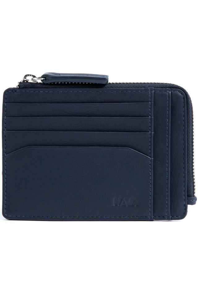 NAVA SM422AB DOC. & CREDIT CARD HOLDER WITH ZIP ASTRAL BLUE