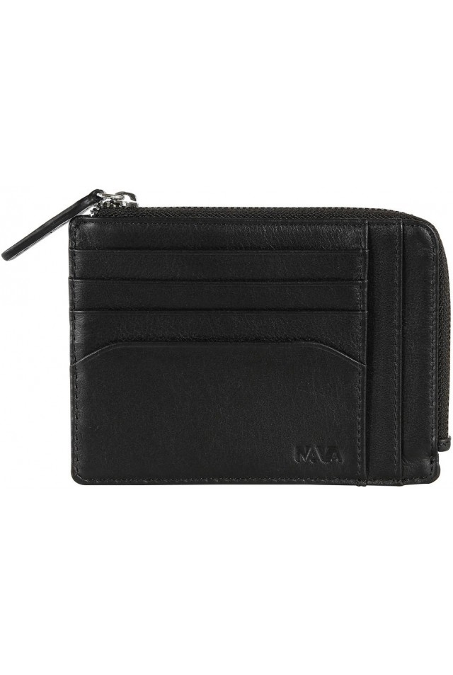 NAVA SM422N SMOOTH DOCUMENT AND CARD CASE BLACK