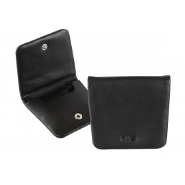 NAVA SM490N SMOOTH LEATHER COIN CASE BLACK