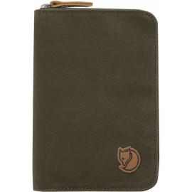 FJALLRAVEN 24220-633 PASSPORT WALLET DARK OLIVE
